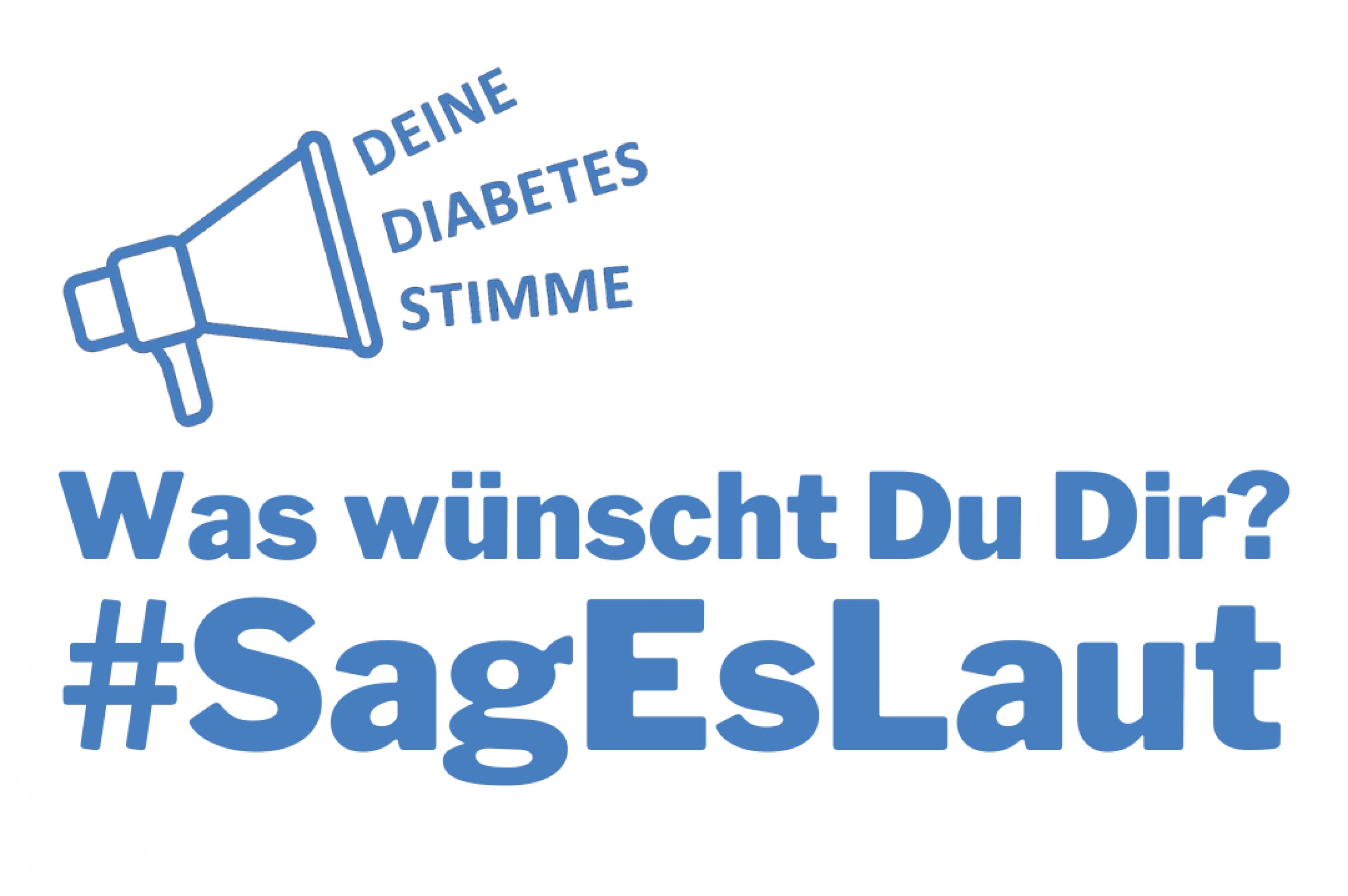 Logo und Aufruf zur #SagEsLaut Kampagne