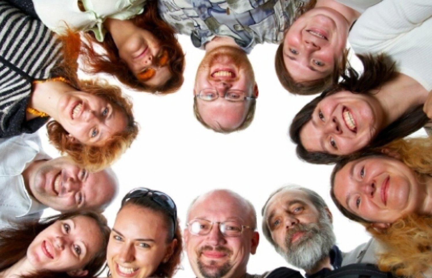 Gruppe Menschen Kreis